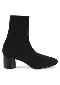 Vince Tasha Rib-Knit Cylinder Heel Sock Booties