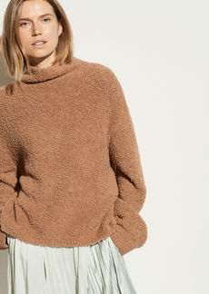 Vince Teddy Funnel Neck Pullover