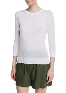 Vince Textured 3/4-Sleeve Pullover Top