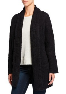 Vince Textured Shawl-Collar Cardigan