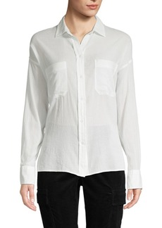 Vince Textured Cotton Blouse
