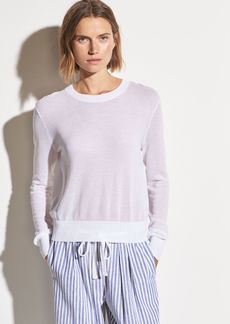 Vince Textured Cotton Long Sleeve