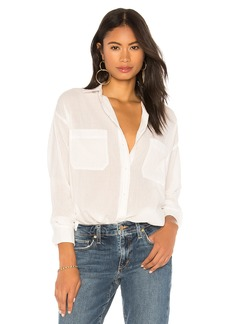 Vince Textured Double Pocket Blouse