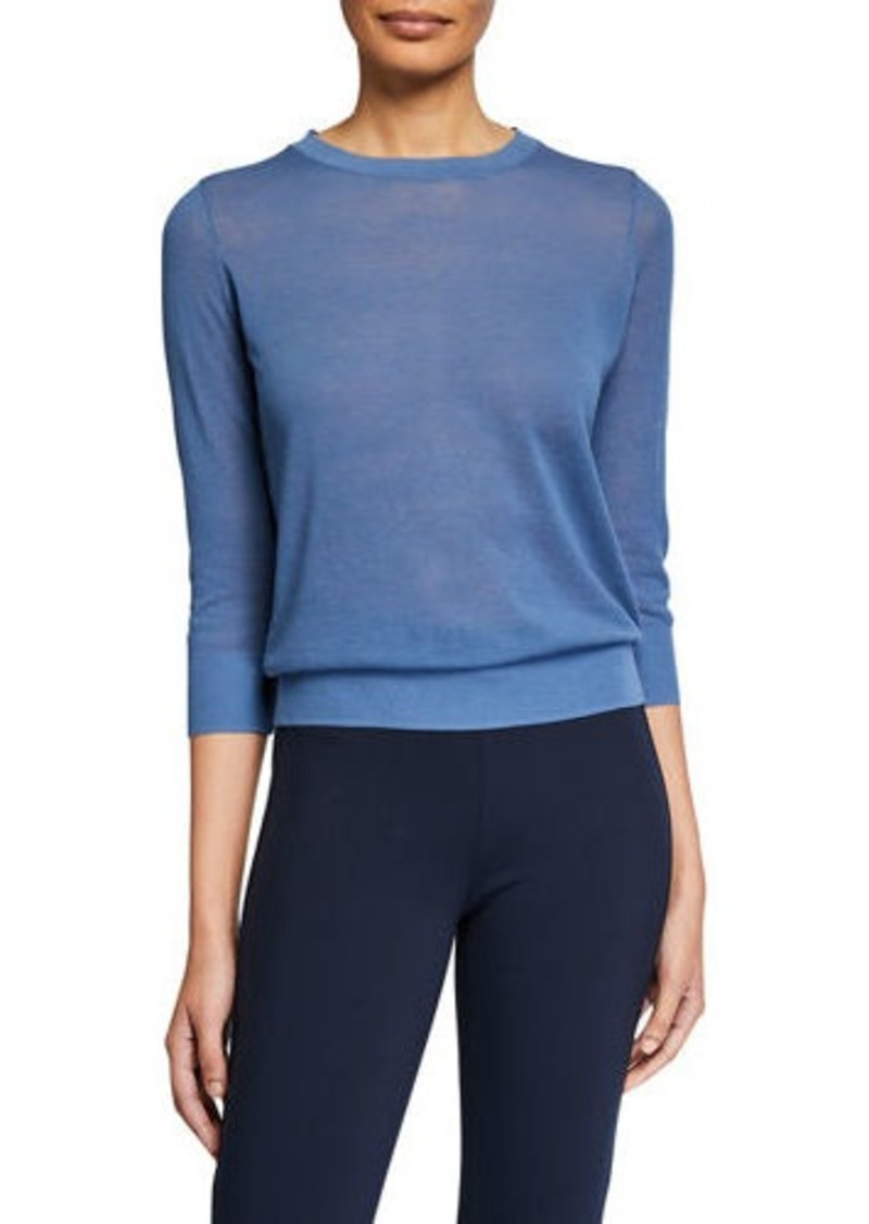 Vince Textured Elbow-Sleeve Pullover