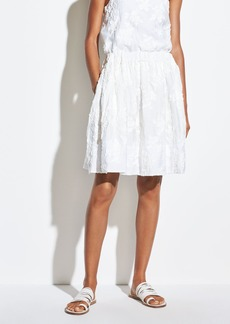 Vince Textured Floral Gathered Skirt