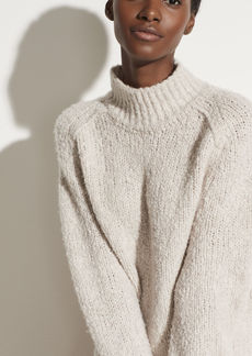 Vince Textured Saddle Sleeve Turtleneck