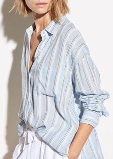 Vince Textured Stripe Boxy Long Sleeve