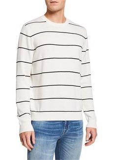 Vince Textured Stripe Crewneck Sweater
