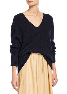 Vince Textured V-Neck Oversized Tunic