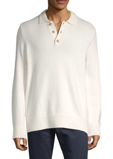 Vince Textured Wool & Cashmere Polo