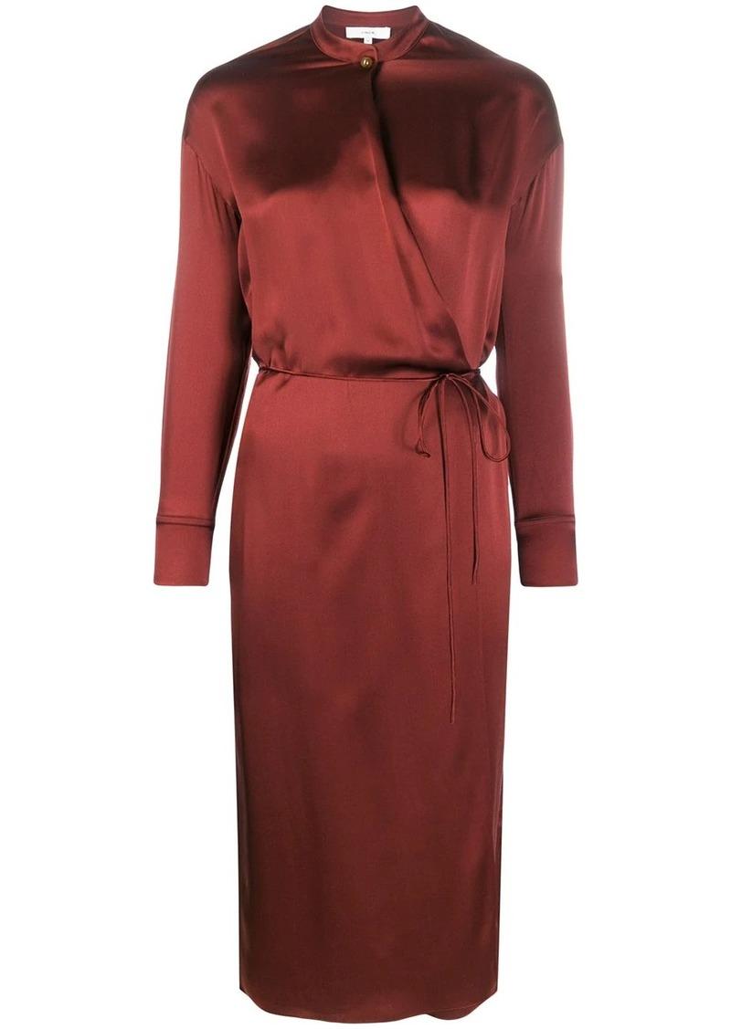 Vince thin belt silk dress