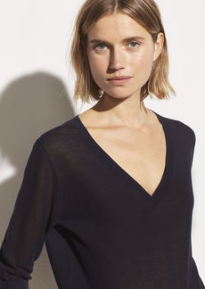 Vince Three-Quarter Sleeve V-Neck