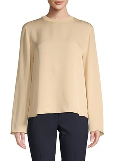 Vince Tie-Back Silk Blouse
