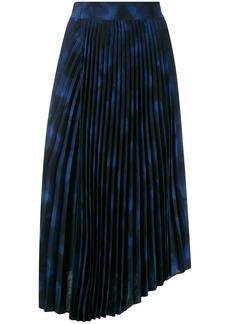 Vince tie-dye print pleated skirt