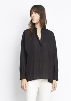 Vince Trapunto Stitch Pullover Blouse