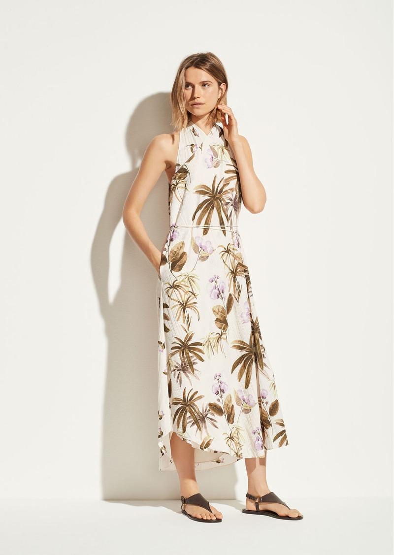 Vince Tropical Garden Satin Dress