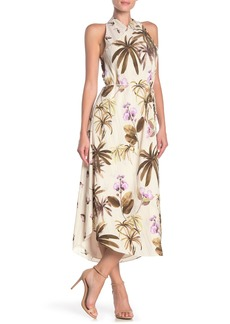 Vince Tropical Garden Sleeveless Midi Dress