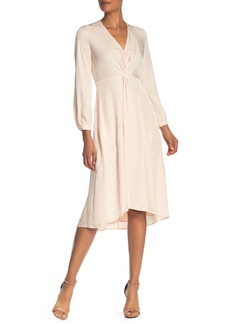 Vince Twist Drape Long Sleeve Dress