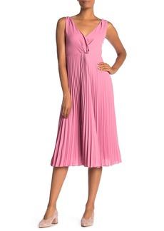 Vince Twist Front Pleated Midi Dress