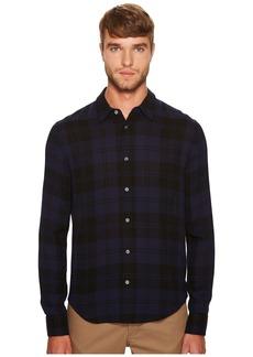 Vince Two-Tone Plaid Long Sleeve Shirt