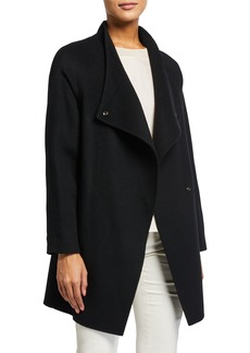Vince Two-Tone Sweater-Back Coat