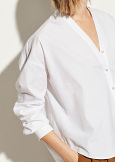 Vince V-Neck Button Down