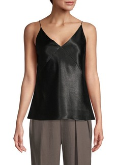 Vince V-Neck Faux Leather Camisole