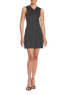 Vince V-Neck Pleated Sheath Dress