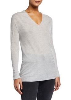 Vince V-Neck Seamless Tunic Sweater