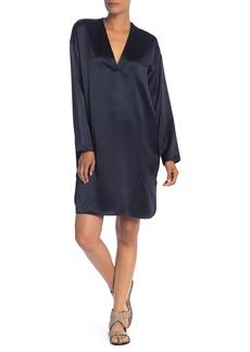 Vince V-Neck Silk Tunic Dress
