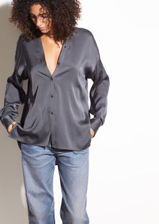 Vince V-neck Stretch-Silk Blouse