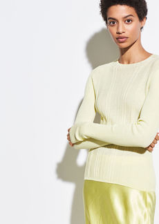 Vince Variegated Rib Mock Neck