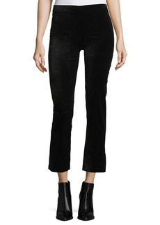 Vince Velvet Cropped Flared Leggings