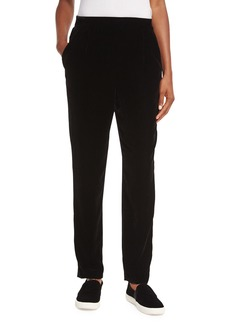 Vince Velvet Single-Pleat Trousers