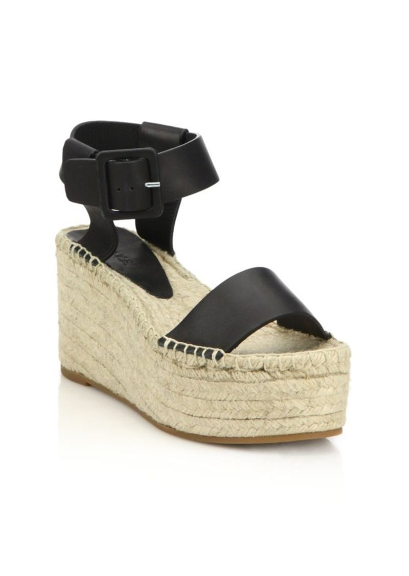 7d5d7d56bed Vince Vince Abby Leather Espadrille Platform Wedge Sandals