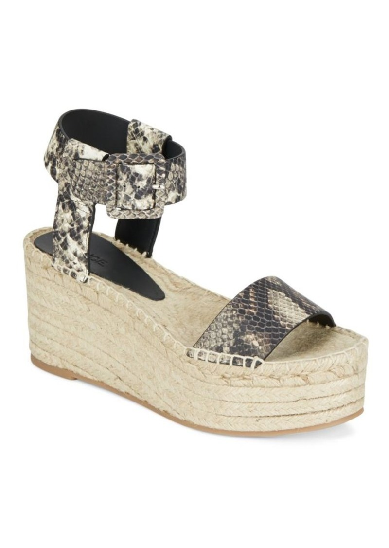 abfe06e6291 Vince Vince Abby Snake-Embossed Leather Espadrille Platform Wedge ...