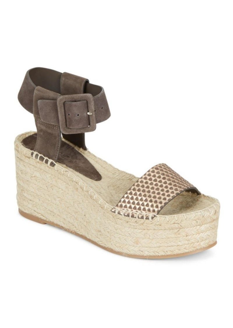 a22a02cc380f2 Vince Vince Abby Suede & Metallic Leather Espadrille Platform Wedge ...