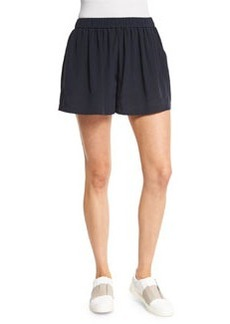 Vince Pleated Silk Pull-On Shorts
