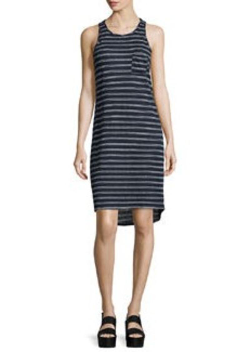Vince Double-Striped Sleeveless Tank Dress