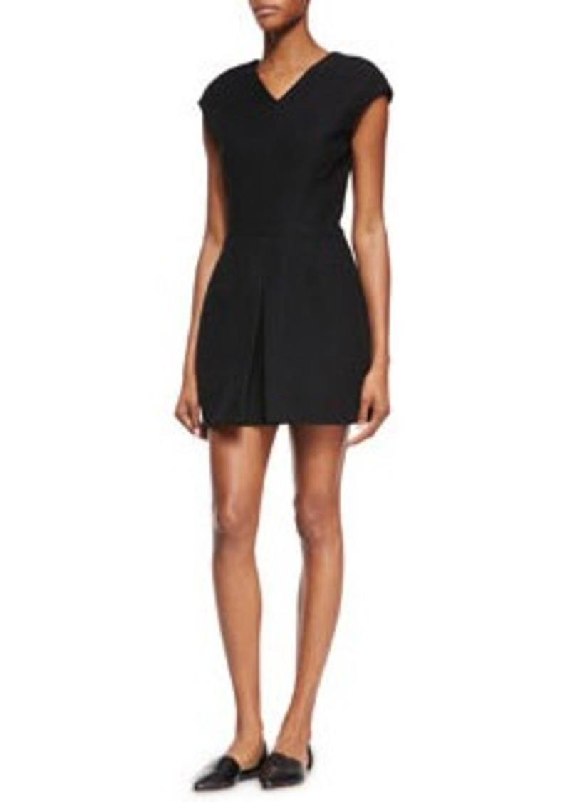 Vince Inverted Front-Pleat Dress