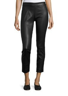 Vince Stitch-Front Leather Leggings