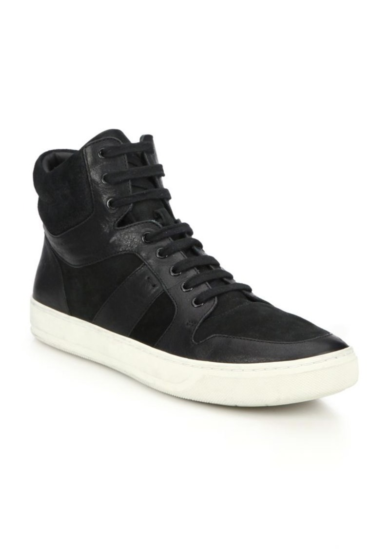 Vince Adam Leather & Suede High-Top Sneakers