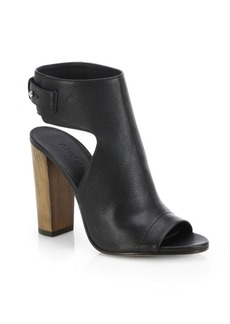 Vince Addie Leather Open Toe Booties