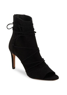 Vince Adisa Suede Lace-Up Booties