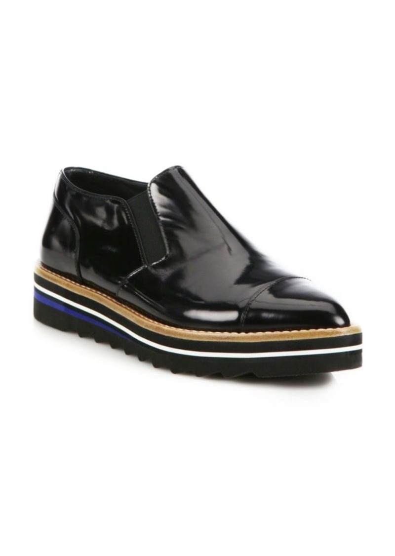 Sale Vince Vince Alona Patent Leather Platform Loafers
