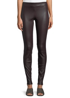 Vince Ankle-Zip Lamb Leather Leggings