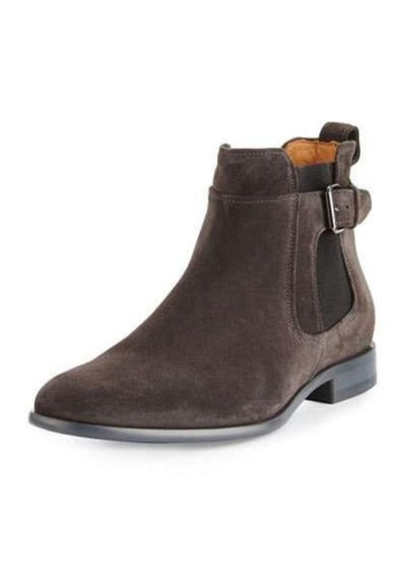 Vince Aston Suede Buckled Boot