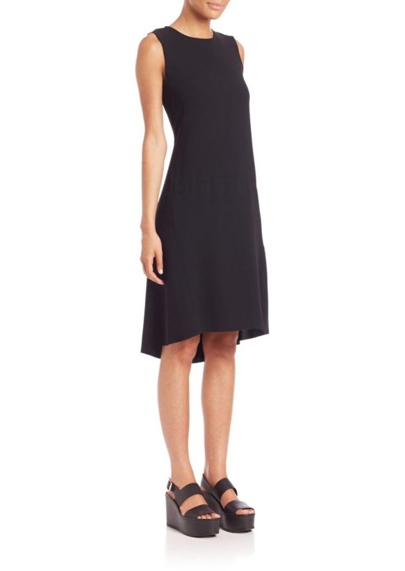 Vince Asymmetric Dropped-Waist Dress
