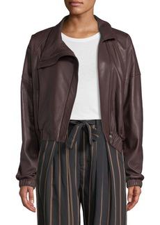 Vince Asymmetric Leather Moto Jacket
