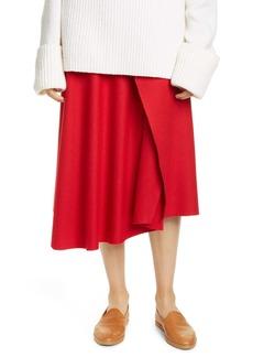 Vince Asymmetrical Drape Midi Skirt